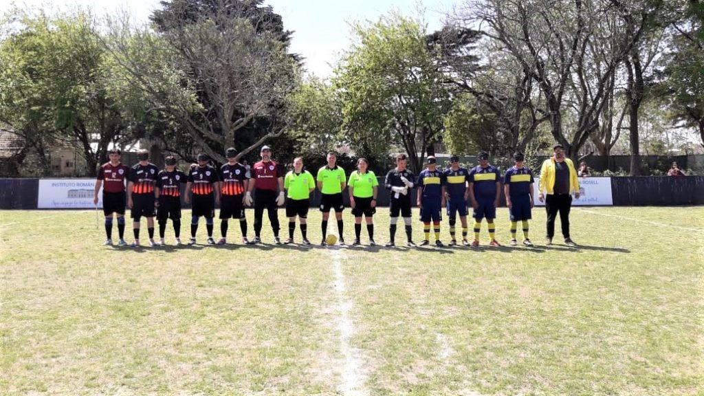 Imagen: Fénix y Boca antes de su partido