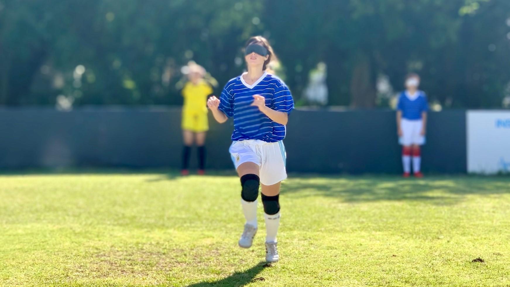 Entrenamiento de la Selección Argentina de Fútbol Femenino para Ciegas