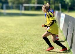 Selección Argentina de Fútbol Femenino entrenando.