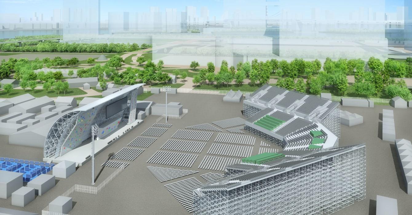 Render del Parque Deportivo Urbano de Aomi